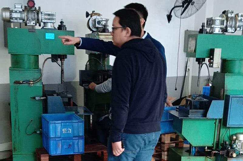 TDL stepper motor machine Customer visit