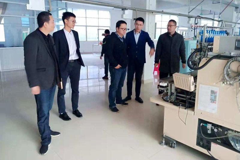 Customer visit - stepper motor machine