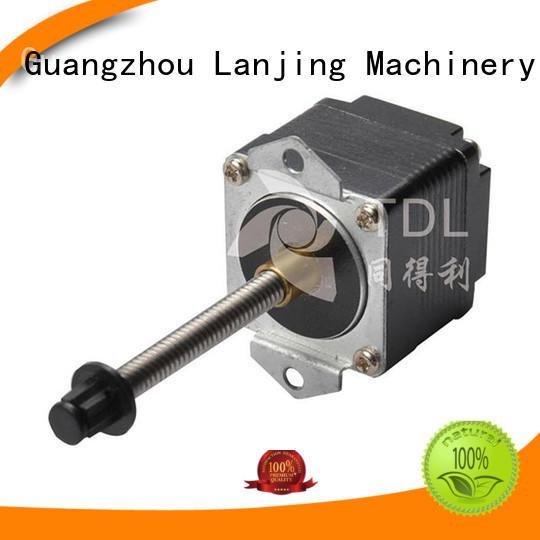 TDL deceleration miniature linear stepper motor supplier for financial equipment
